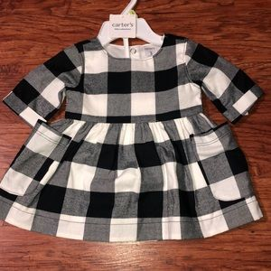 Black & white checkered dress